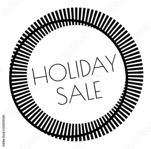 HOLIDAY SALE stamp on white