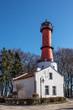 canvas print picture - Leuchtturm Rozewie Schutz Gebäude