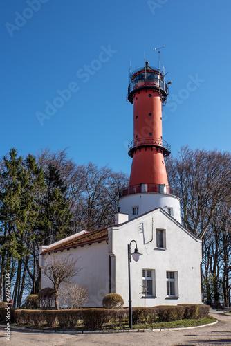 canvas print picture Leuchtturm Rozewie Schutz Gebäude