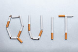 Quit Word Made From Cigarettes