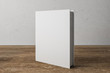 Leinwandbild Motiv Stack of white book