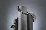 Composition of three bracelets. Studio still life image