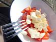 Tomaten Schafskäse Salat - 261597749