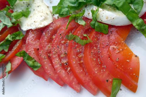 Leinwandbild Motiv Caprese Salat