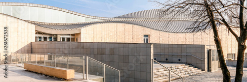 KRAKOW, POLAND - MARCH 19, 2016: Panoramic view of Manggha Museum of Japanese Art and Technology