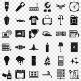 Strong electricity icons set. Simple style of 36 strong electricity vector icons for web for any design