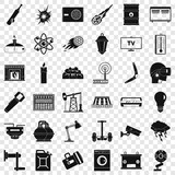 Save energy icons set. Simple style of 36 save energy vector icons for web for any design