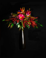 Floral arrangement from artificial flowers.
