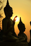 buddhas in the lotus position