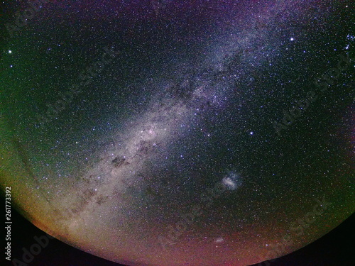Milky Way spreading over the desert. Chile(Desierto de Atacama)