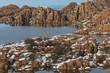 canvas print picture - Watson Lake Winter Landscape