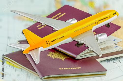 Avion sur passeports