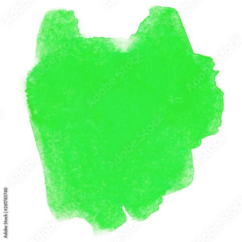 Leinwandbild Motiv green watercolor stain
