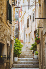Narrow alleyway in old town in Europe © JFL Photography