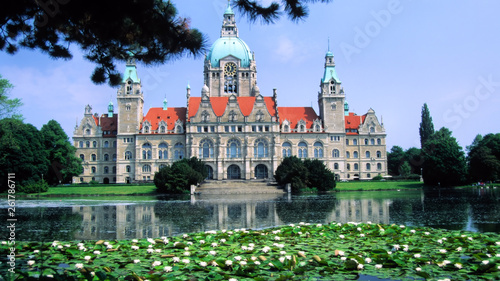 canvas print picture neue rathaus in hannover