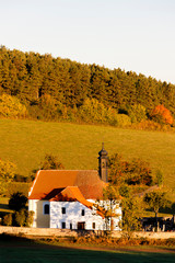 church near Rabi, Sumava. Czech Republic