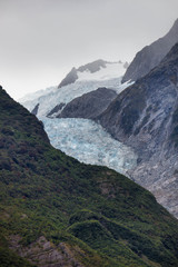 Franz Josef Glacier between mountains, New Zealand, South Island © Sarah