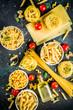 Leinwanddruck Bild - Italian pasta assortment