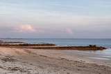 Sunset at Salthill beach in Galway Bay
