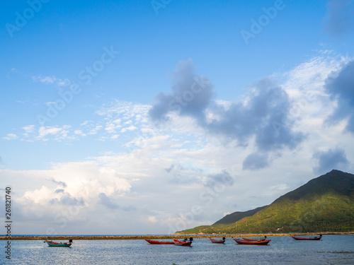 fishing boat near the island. Koh Phangan