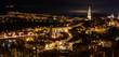 canvas print picture - Bern bei Nacht