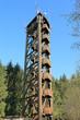 canvas print picture - Raiffeisenturm im Westerwald, Aussichtsturm, Mobilfunkmast