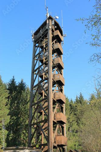 canvas print picture Raiffeisenturm im Westerwald, Aussichtsturm, Mobilfunkmast