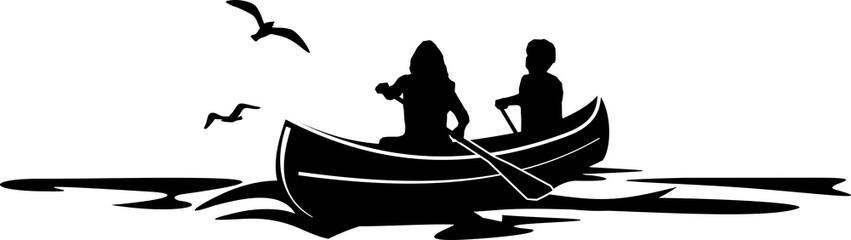 Canoe Paddle SIlhouette