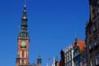 canvas print picture - Der Turm von dem Rechtstädtischen Rathaus in Danzig