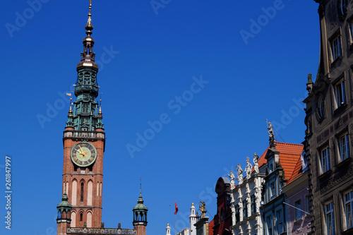 canvas print picture Der Turm von dem Rechtstädtischen Rathaus in Danzig