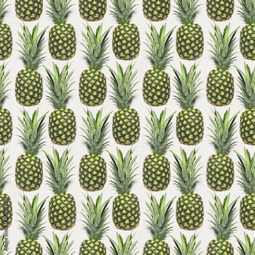 Pineapple Seamless Pattern © skunkeye