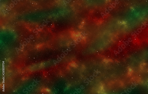 Abstract Space Background (Green, Red)