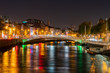 Night view of the famous Ha'penny Bridge - 261881931