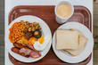 Close up shot of a traditional Irish breakfast - 261882307