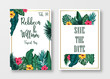 Floral card set Wedding Invitation, save the date, and frame