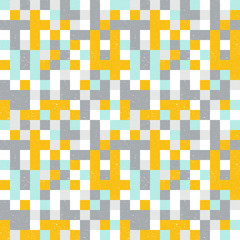 Squares mosaic geometric vector seamless pattern.