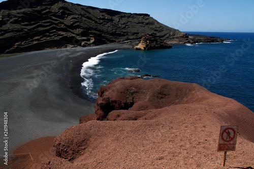 canvas print picture Lanzarote El Golfo