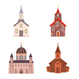 Vector design of religion and building icon. Set of religion and faith stock vector illustration.
