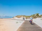 Fahrradweg zum Strand an der Nordsee