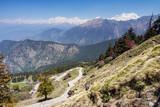 View from Tungnath Peak, Chopta, Garhwal, Uttarakhand, India.