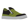 green men's shoes, isolated, vector