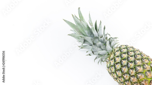 canvas print picture Ananas weiß isoliert