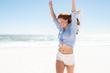 Quadro Smiling woman enjoying the beach
