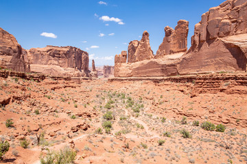 Scenic landscape in Arches National Park, Utah, USA