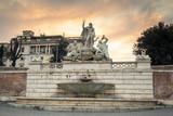 Architecture of the Piazza del Popolo in Rome, Italy