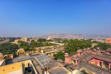Top view of old Jaipur city at India.