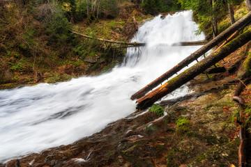Canyon of waterfalls in Rhodope mountain, Bulgaria.