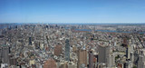 Panorama view of new York city from One World Trade Center