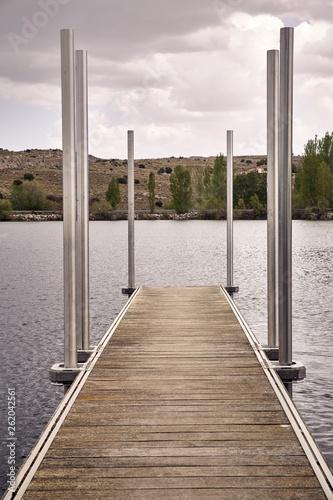 Acrylglas Pier Empty jetty on a lake