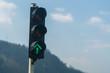 canvas print picture - Verkehrsampel mit grünem Pfeil